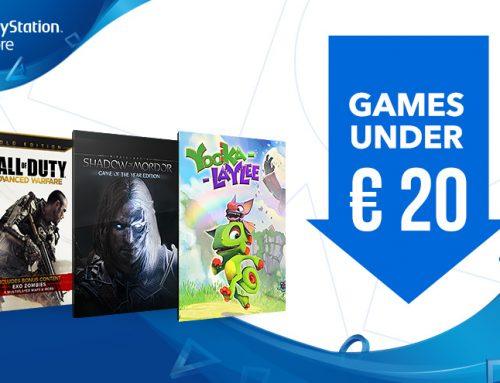PlayStation 4 soodusmüük alla 20€ maksvatele mängudele