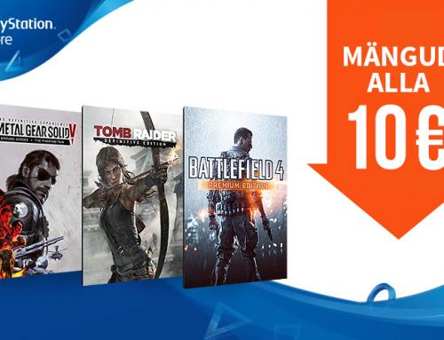 PS Store's paljude mängude hinnad alla 10€!