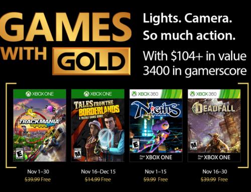 Xbox Live Gold tasuta mängud– November 2017