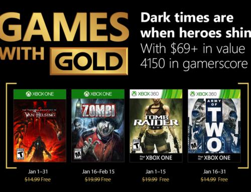 Xbox Live Gold tasuta mängud – Jaanuar 2018
