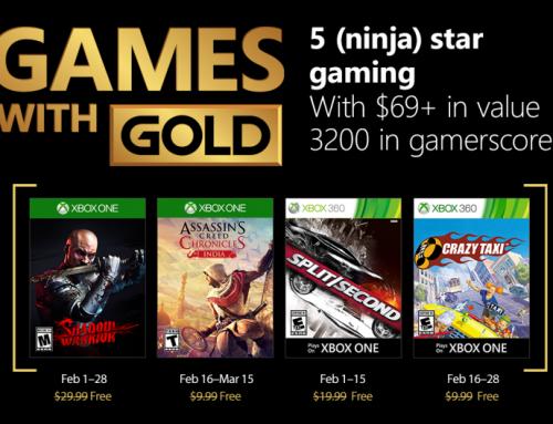 Xbox Live Gold tasuta mängud – Veebruar 2018