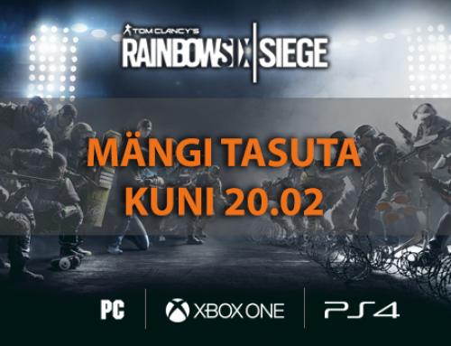 Mängi Rainbow Six Siege kuni 20. veebruarini TASUTA