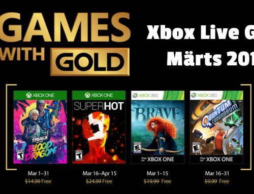 Xbox Live Gold tasuta mängud – Märts 2018