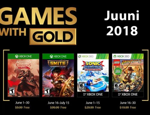 Xbox Live Gold tasuta mängud – Juuni 2018