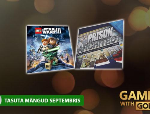 Xbox Live Gold tasuta mängud – September 2018