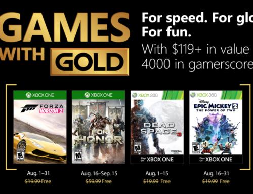 Xbox Live Gold tasuta mängud – August 2018