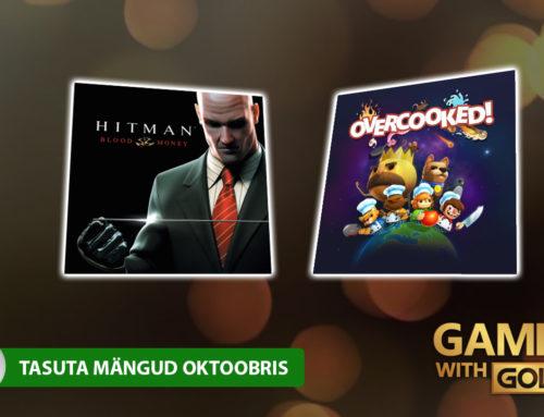 Xbox Live Gold tasuta mängud – Oktoober 2018