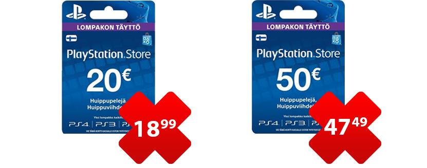 Soome PSN kaardid müügil eriti hea hinnaga