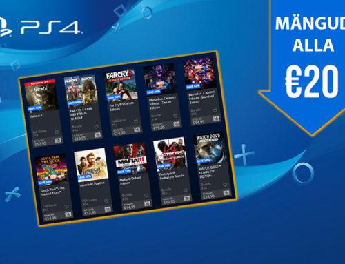 PlayStationi alla 20€ mängud