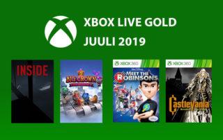 Xbox Live Gold Juuli 2019 tasuta mängud
