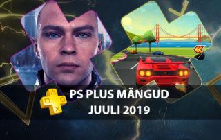 PS Plus juuli 2019 tasuta mängud playstation 4 konsoolile