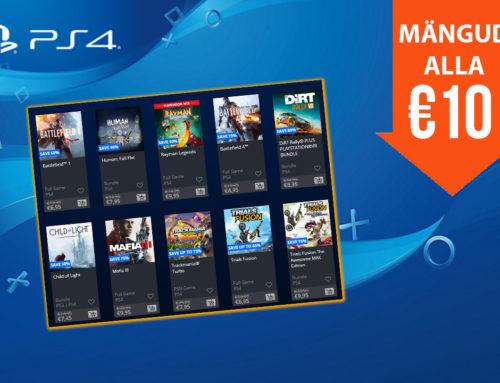 PlayStationi alla 10€ mängud