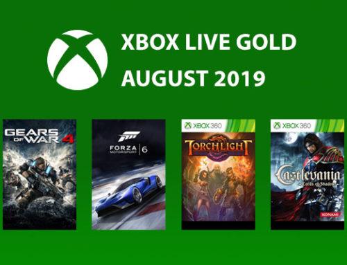 Xbox Live Gold tasuta mängud – August 2019