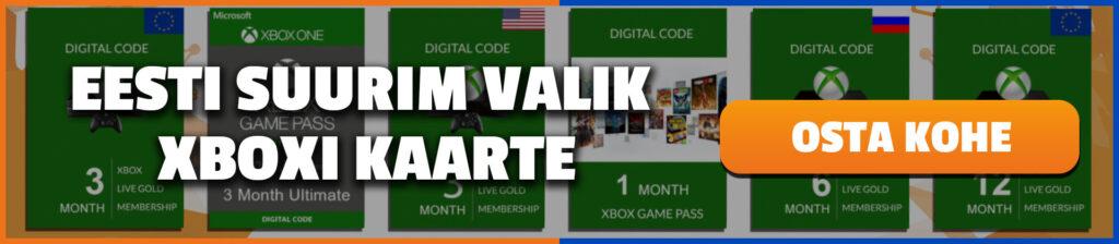 Xbox Live Gold Eesti suurim valik