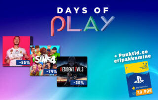 Days of Play PS4 mängude soodusmüük