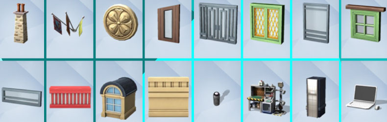 The Sims 4 esemed ja objektid