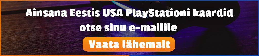 Osta USA PlayStationi kaarte, mis saadetakse otse sinu e-mailile