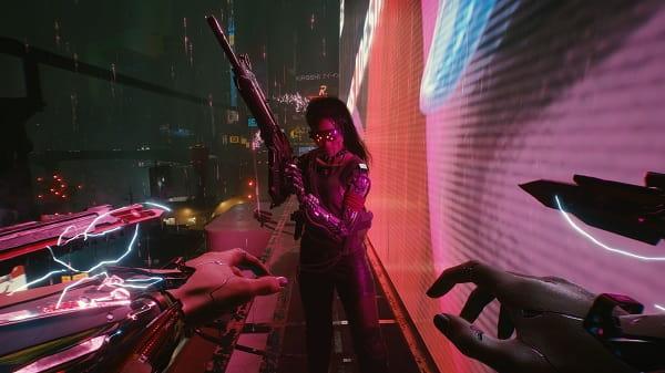 Cyberpunk 2077 first-person vaade