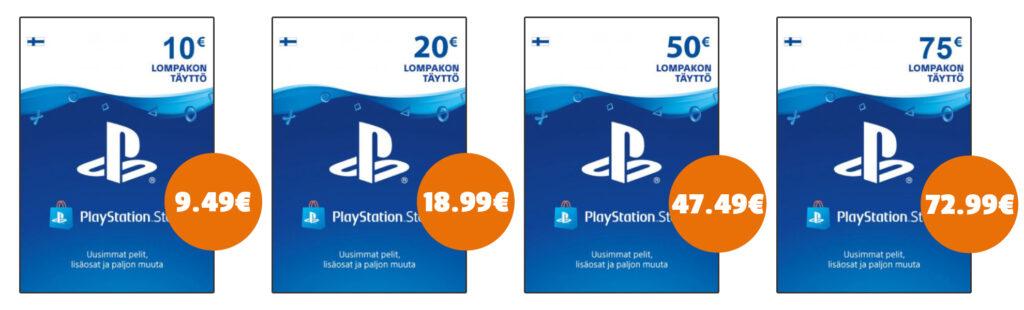 Soome PlayStationi kaardid Eesti soodsaima hinnaga