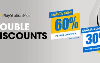 PlaySation Double Discounts kampaania PS4 PS5 mängudele