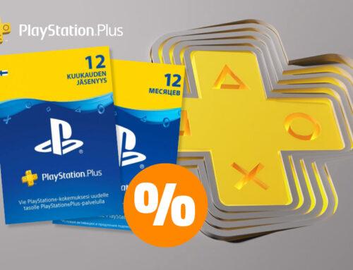 PlayStation Plus 12 kuu liikmekaart eriti soodsa hinnaga! 🎮