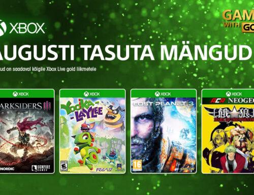 Xbox Live Gold tasuta mängud – august 2021