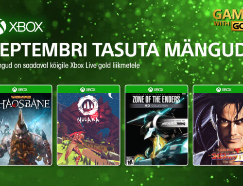 Xbox Live Gold tasuta mängud – september 2021