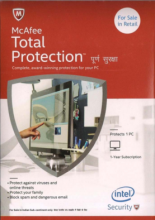 McAfee Total Protection (3 Users-1 Year)