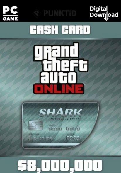 GTA V Online Cash Card: Megalodon Shark 8,000,000$ PC