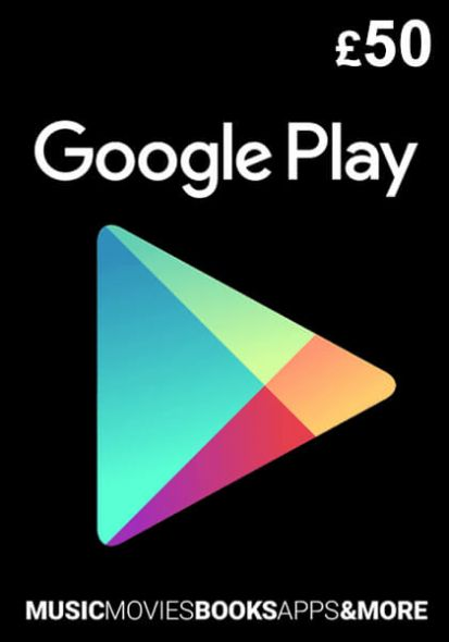 UK Google Play 50 Nael Kinkekaart