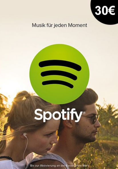 Saksamaa Spotify 30€ Kinkekaart