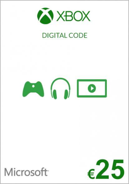 EU Xbox 25 Euro Kinkekaart (Xbox One & 360)