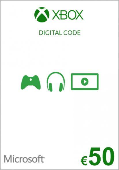 EU Xbox 50 Euro Kinkekaart (Xbox One & 360)
