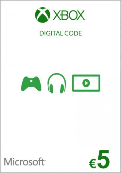 EU Xbox 5 Euro Kinkekaart (Xbox One & 360)