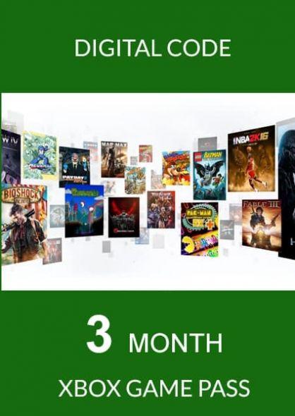 Xbox Game Pass 3 Kuu Liikmeaeg (Xbox One)