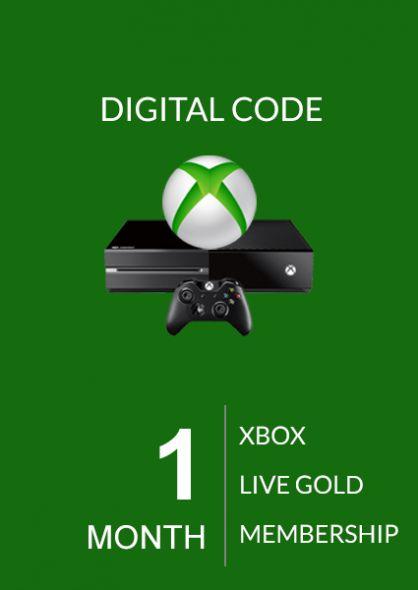 Xbox Live 1 Kuu Kuld Liikmeaeg (Xbox One & 360)