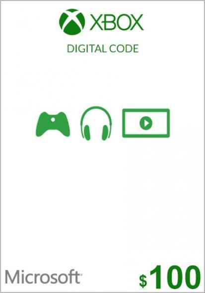 USA Xbox 100 Dollar Kinkekaart (Xbox One & 360)