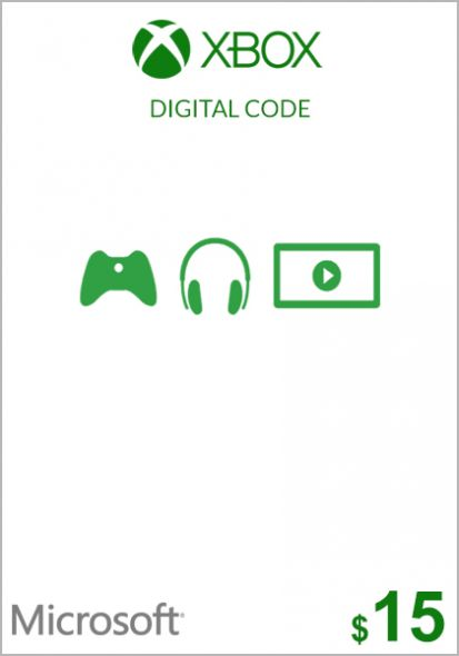 USA Xbox 15 Dollar Kinkekaart (Xbox One & 360)