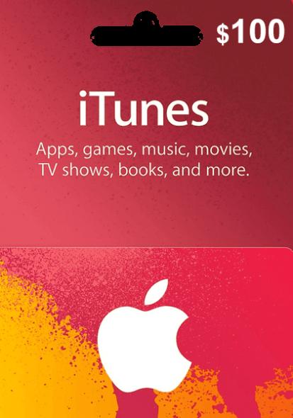 iTunes USA $100 Kinkekaart