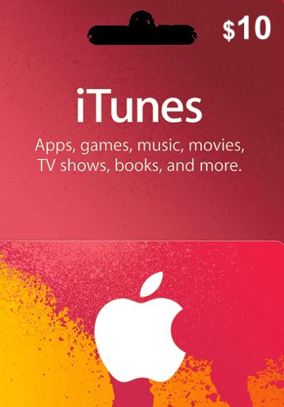 iTunes USA $10 Kinkekaart
