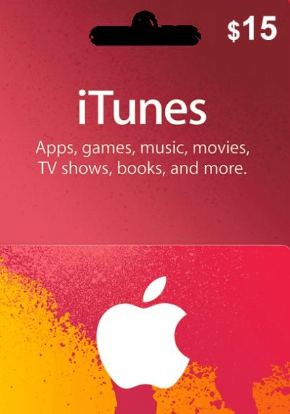 iTunes USA $15 Kinkekaart