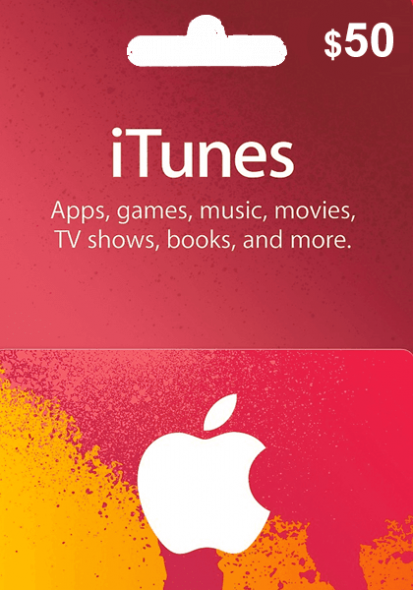 iTunes USA $50 Kinkekaart