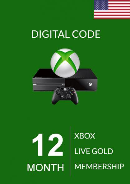 USA Xbox Live 12 Kuu Kuld Liikmeaeg (Xbox One & 360)