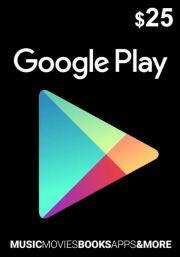 USA Google Play 25 Dollar Kinkekaart