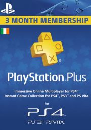 Iirimaa PSN Plus 3-Kuu Liikmeaeg