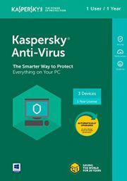 Kaspersky Anti-Virus 2018 (1 Kasutaja, 1 Aasta)