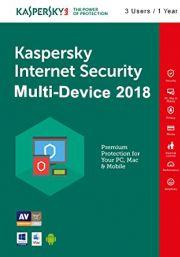 Kaspersky Internet Security Multi-Device 2018 (3 Kasutajat, 1 Aasta)