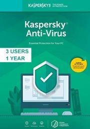 Kaspersky Anti-Virus 2019 (3 Kasutajat, 1 Aasta)