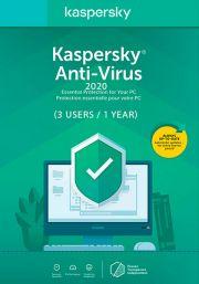 Kaspersky Anti-Virus 2020 (3 Kasutajat, 1 Aasta)