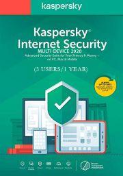 Kaspersky Internet Security Multi-Device 2020 (3 Kasutajat, 1 Aasta)